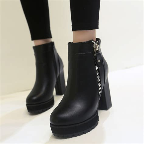 Designer Boots For Fall Winter by Faux Leather Ankle Boots Designer Fashion Platform