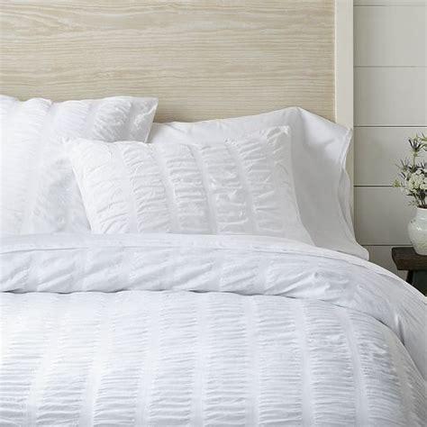 organic bed linens organic seersucker duvet cover shams white west elm