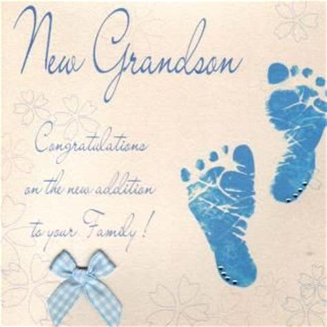 New Baby Verses For Handmade Cards - congratulations new grandson image for a new grandson