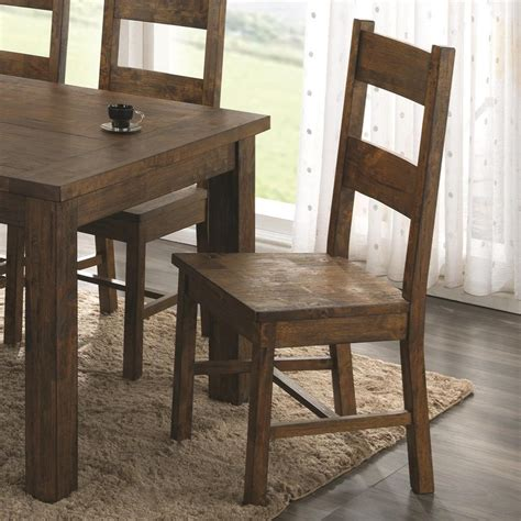 coaster dining chairs coaster coleman wooden dining chair with rustic finish