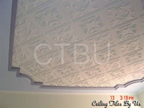 Decorative Foam Ceiling Tiles by Styrofoam Ceiling Tiles Installed