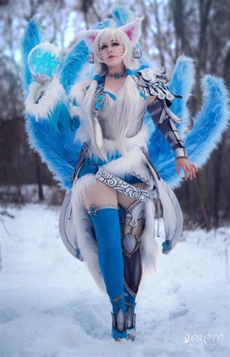 league  legends ahri cosplay  cold  ice