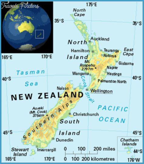 Pdf Where Is New Zealand Located by Where Is New Zealand Located On A Map Travelsfinders