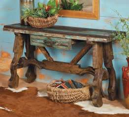 western furniture ox yoke console table lone western