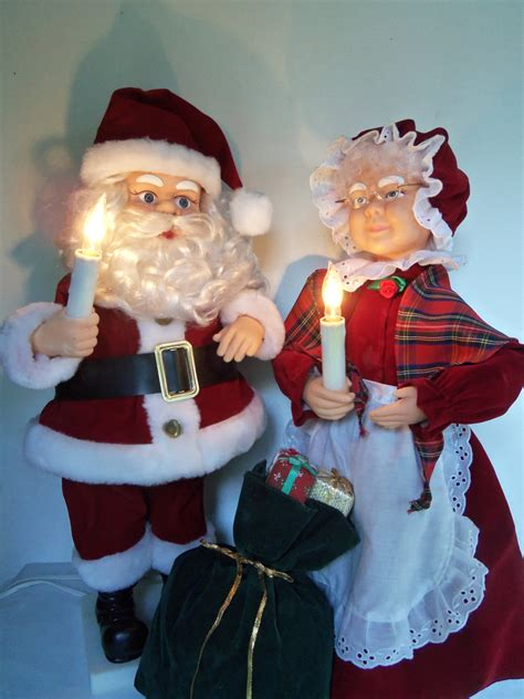 large 24 animated motion santa and mrs claus lighted