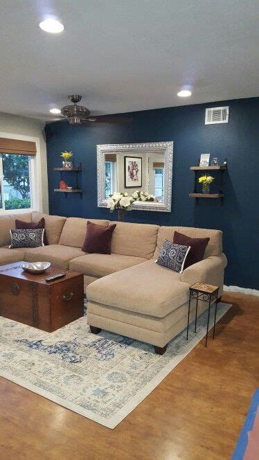 painting accent walls in living room blue paint color seaworthy by sherwin williams perfect