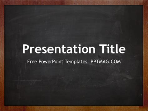 Free Blackboard Powerpoint Template Pptmag Chalkboard Powerpoint Templates