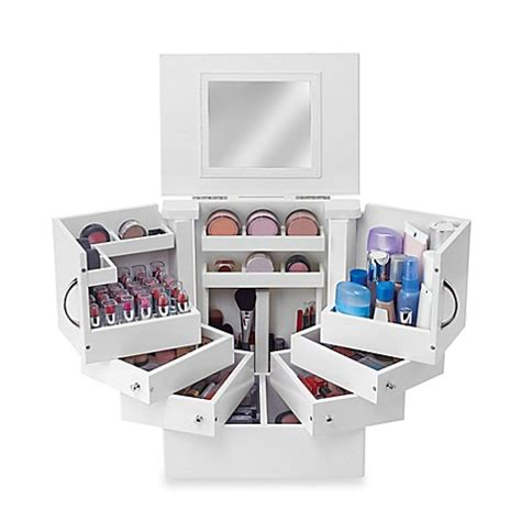 bathroom counter makeup organizer lori greiner deluxe cosmetic organizer box bed bath beyond