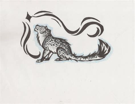 snow tiger tattoo designs snow leopard by linkfreak210 on deviantart ink
