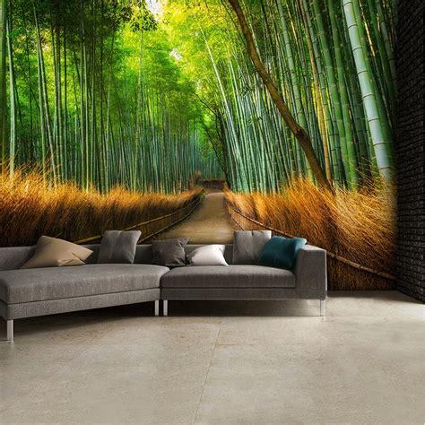 Bamboo Mural Walls - bamboo footpath wall mural 315cm x 232cm