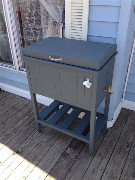 Patio Deck Cooler Stand by Best 25 Cooler Stand Ideas On Pallet Cooler