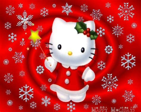 hello kitty holiday wallpaper hello kitty christmas wallpapers wallpaper cave