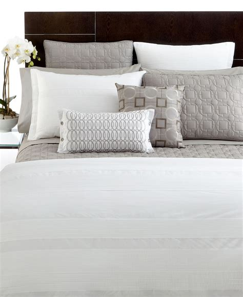 hotel collection modern woven pleats bedding collection