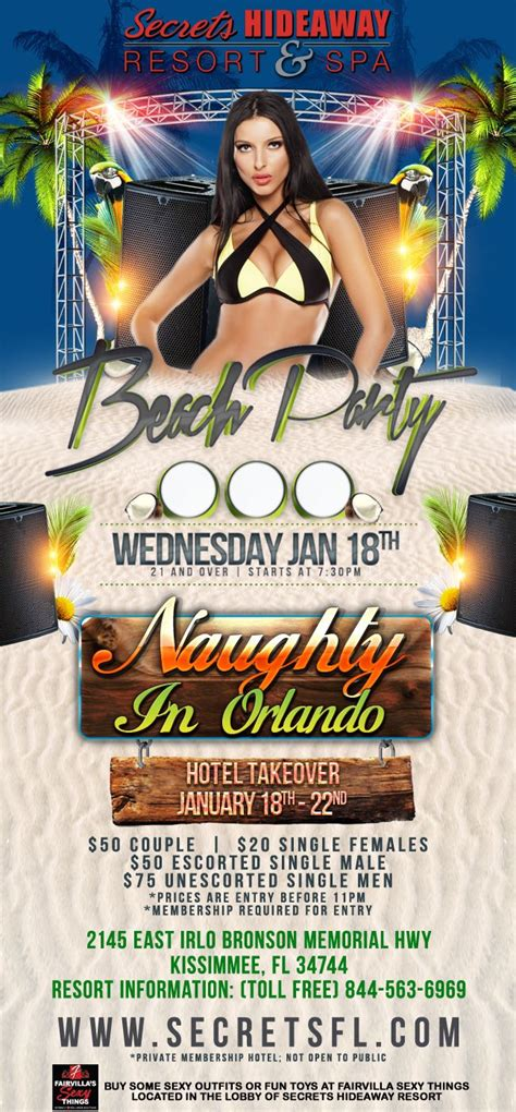 florida swing party events naughty in orlando hotel takeover orlando