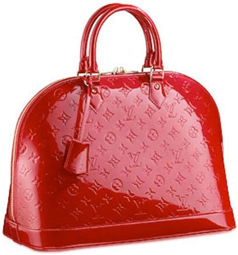 fashion  cimmon geanta louis vuitton alma red