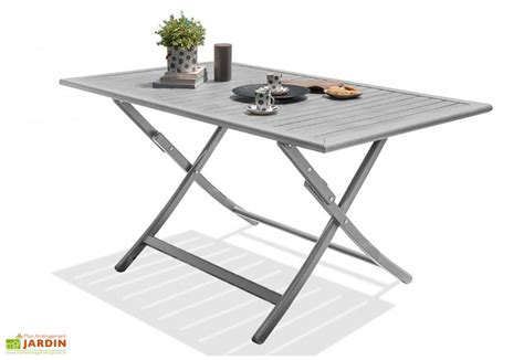 table metal jardin table de jardin pliante marius 140x80 alumob