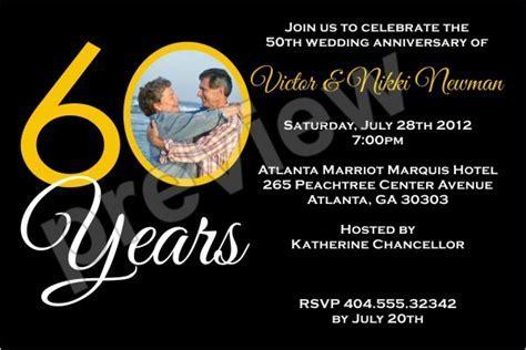 60 Years 60th Wedding Anniversary Photo Invitation