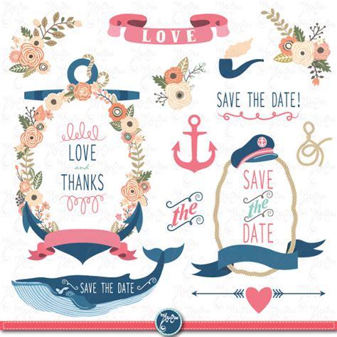 Nautical Wedding Clipart wedding clipart wedding flora nautical clip