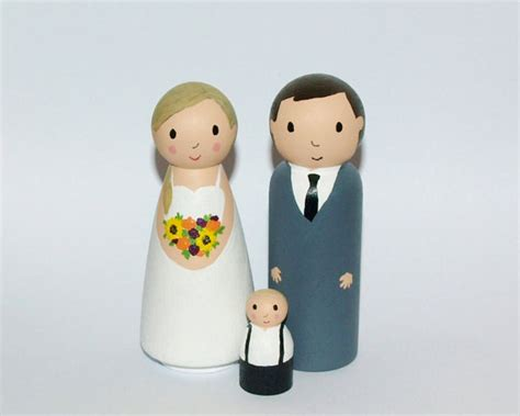 wedding cake topper with child wedding cake topper with child custom family figurine