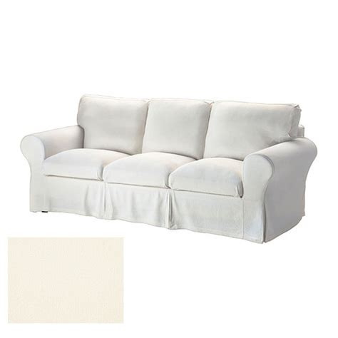 Ikea Ektorp 3 Seat Sofa Slipcover Cover Stenasa White Off Linen Slipcovers For Sofas