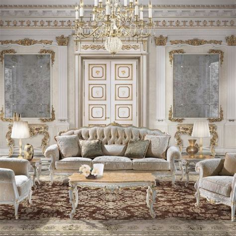 Interior Design For Living Room Luxury Classic Furniture In Louis Xiii Baroque Style By