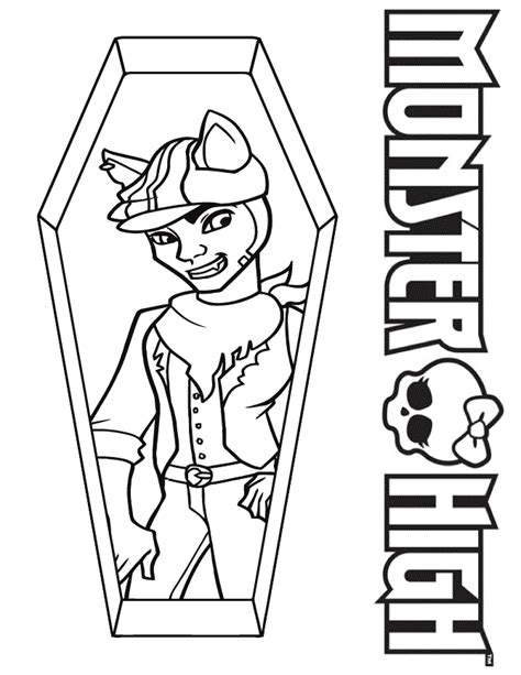 monster high clawd coloring pages free coloring pages of monster high boys names
