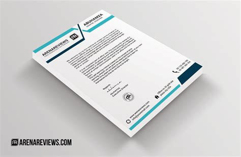 design header paper blue turquoise free letterhead template