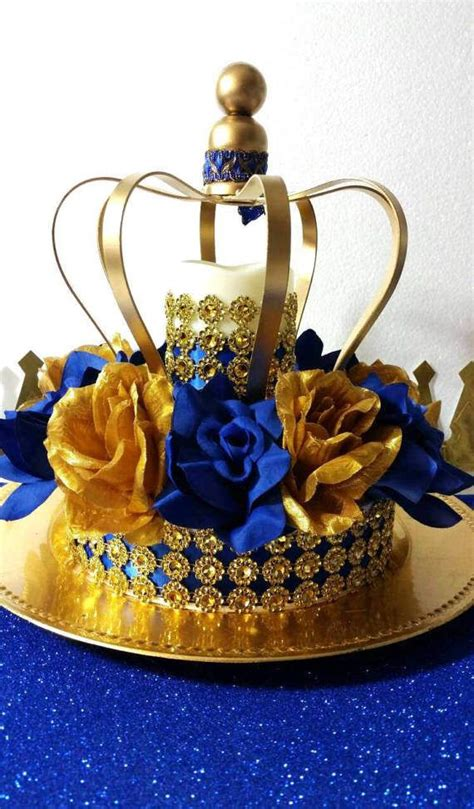 Crown Baby Shower Decorations by Crown Royal Prince Baby Shower Centerpiece Boys Royal