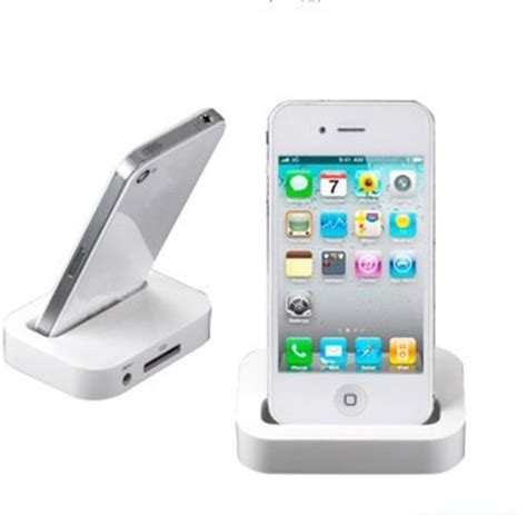 Iphone 4s Dock Connector Lock Holder portable dock station charger cable adapter base holder for apple iphone 4 4s ipod touch