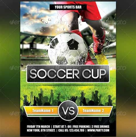 free football flyer templates best soccer tournament flyer design