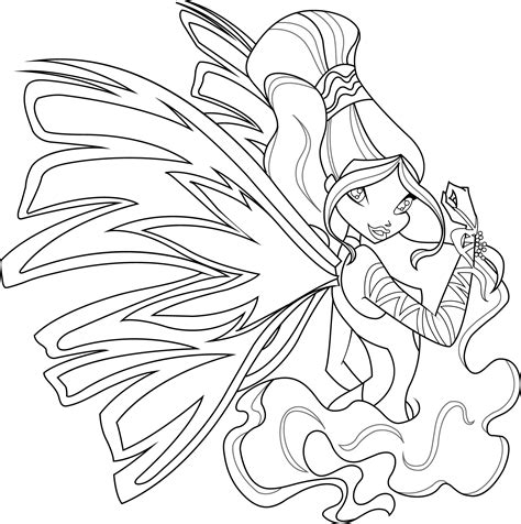 aisha sirenix coloring page by icantunloveyou on deviantart
