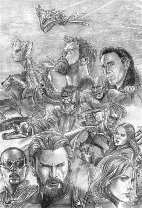 Avengers (Infinity War) Assembled (Left Side) by