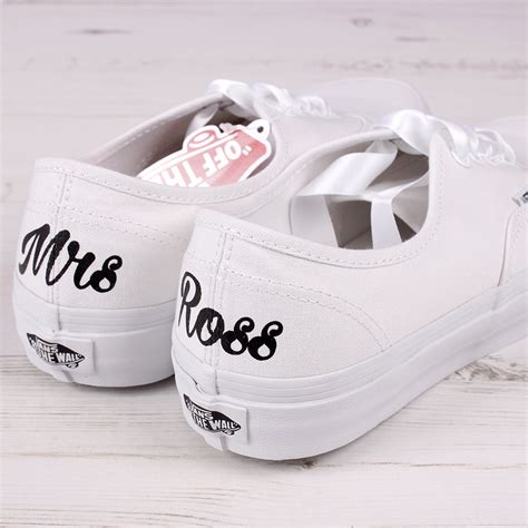 vans wedding sneakers customised mrs vans shoes wedding converse