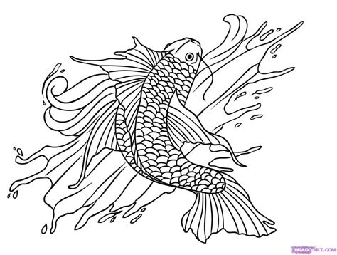 printable coloring pages koi fish koi fish coloring pages az coloring pages