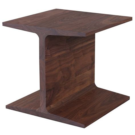 Wooden Side Table Matthew For De La Espada I Beam Side Table Walnut For Sale At 1stdibs