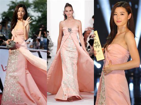 model rambut jun ji hyun foto cantiknya jun ji hyun dengan gaun strapless di