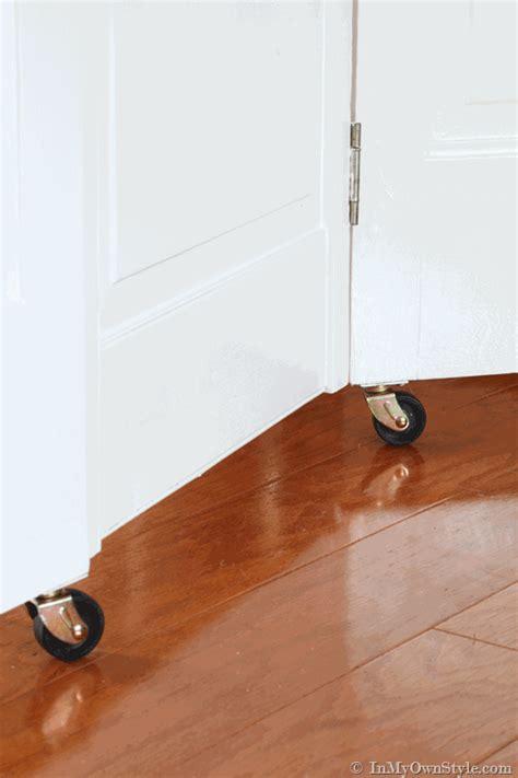 hang bifold  sliding doors  wheels