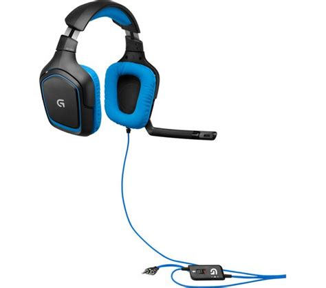 Logitech Headset Gaming G430 Berkualitas logitech g430 gaming headset black blue deals pc world