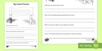 lenten promise card template my lenten promise writing worksheet activity sheet world