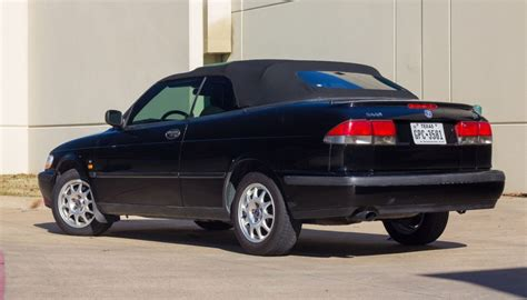 saab convertible black 1999 saab 9 3 black on black convertible for sale