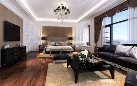 Living Room Into Bedroom rendering living room and bedroom together 3d house