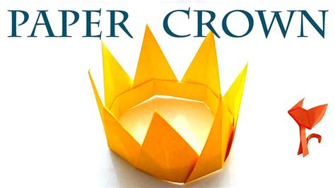 How To Make A Paper Princess Crown - how to make a paper crown princess for