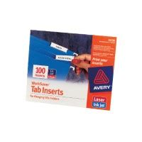Worksaver Tab Inserts For Hanging File Folders 11136 Avery Worksaver Tab Inserts 11136 Template
