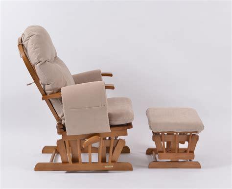 habebe recliner glider chair habebe glider chair stool oak wood beige washable