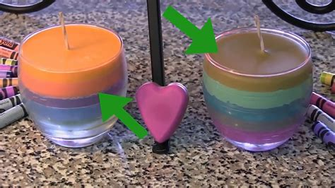 colored candles how to make multi colored candles using crayons 9 steps
