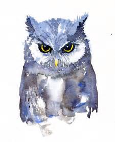 water color owl owl watercolor front view the hiking artist project by