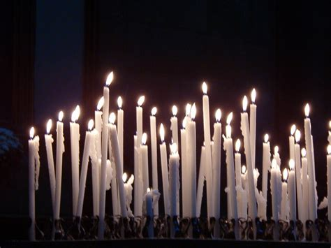 white church candles