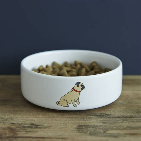 pug bowl pug bowl by sweet william designs notonthehighstreet