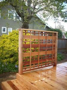 Wood Lattice Trellis Customcedar Privacy Panel Portland Deck Builder Custom