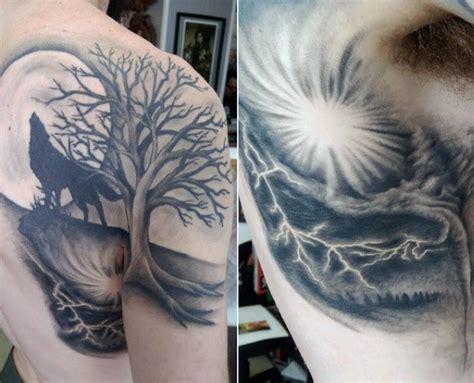 70 Wolf Tattoo Designs For Men Masculine Idea Inspiration Best Tribal Tattoos Wolf